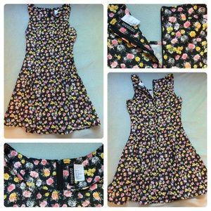 H&M Divided Floral Skater Dress